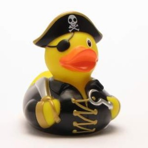 Rubber Duck Pirate Captain with Hook Hand - ???????