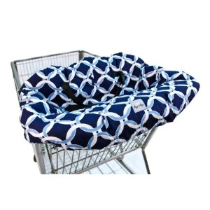 Itzy Ritzy Shopping Cart and High Chair Cover, Social Circle Blue by Itzy Ritzy