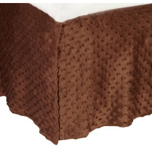 American Baby Company Heavenly Soft Minky Dot Tailored Crib Skirt, Chocolate by American Baby...