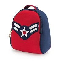 Dabbawalla Bags Vintage Flyer Military themed Kids' Preschool & Toddler Backpack Navy/Red by...