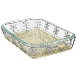 Pyrex 3 Quart Snowflake Basket Set