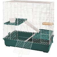 Kaytee My First Home & Fiesta Chinchilla Complete Kit Bedding Food Dish Cage