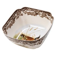 Spode Woodland Quail and Lapwing Square Bowl by Spode