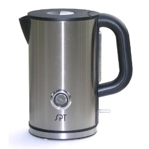 Sunpentown SK-1717 Cordless 1-2/3-Liter Kettle with Temperature Display by Sunpentown