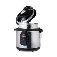 Elite Platinum 11-in-1 Electric Pressure Cooker, Slow Cooker, Stainless Steel Cooking Pot, 6Qt....