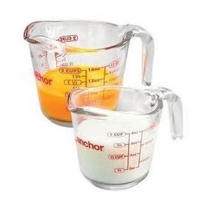 Anchor Hocking Glass Measuring Cup, Set of 2 - 1 & 2 Cup by Anchor Hocking
