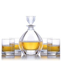 Crystalize Laguna Liquor Decanter 5 Piece Set クリア CRYS-LEG-SET-5