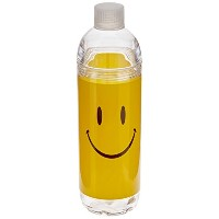 Spoontiques Smiley Face Acrylic Water Bottle, Yellow by Spoontiques