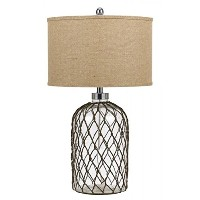 Cal Lighting Roped Glass Table Lamp, 27.5 by Cal