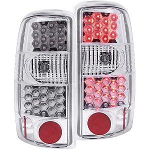 Anzo USA 311002 Cadillac/Chevrolet/GMC Chrome LED Tail Light Assembly - (Sold in Pairs) [並行輸入品]