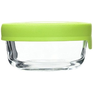 Anchor Hocking 1-Cup Round Food Storage Containers with Green TrueSeal Airtight Lids, Set of 2