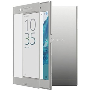 Xperia XZ ガラスフィルム 【Melocy】 Sony Xperia XZフィルム 2.5D 全面吸着 硬度9H 高透過率 3色選択可能 (Xperia XZ,シルバー)