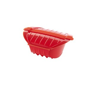 Lekue 1-2 Person Deep Steam Case with Tray, Red by Lekue [並行輸入品]