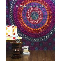 Big Maharaja Wall Tapestries Multi Color BIG Mandala Hippie Tapestry, Hippie Wall Hanging, Bohemian...