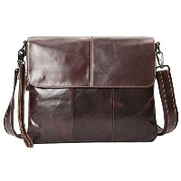 Zhhlaixing ショルダーバッグ Men's Boys Cowhide Leather Crossbody Shoulder Bag Backpack Travel Sling Bag...