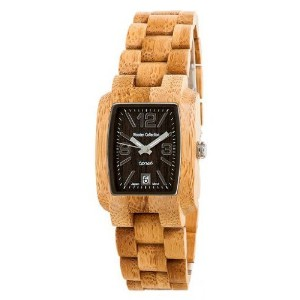 Tense Wood Watch Mens Bamboo Day Time Jumbo j8102b DLF