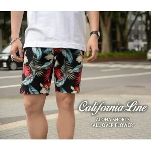 "【CALIFORNIA LINE/カリフォルニアライン】ショーツ/ALOHA SHORTS ""ALLOVER FLOWER"" 3 Color★REALDEAL"