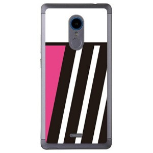 【送料無料】 PINK & BLACK ピンク (クリア) design by ROTM / for ZTE Blade V580/MVNOスマホ(SIMフリー端末) 【SECOND SKIN...