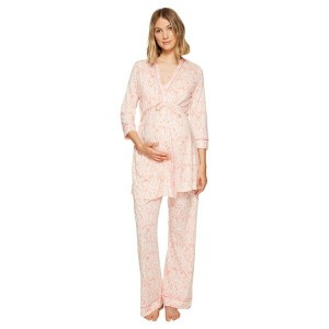コサベラ レディース ナイトウェア アンダーウェア Bella Maternity Print Three-Piece PJ Set Vintage Plum Peach Nectar/Pink...
