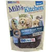 Milo's Kitchen Grilled Burger Bites Home Style Delicious Dog Chew Treats 18oz