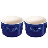 Staub Mini Round Ramekin, Set of 2, Dark Blue, 5 oz. by Staub