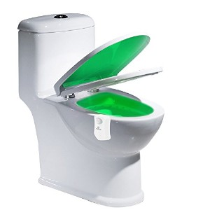 Rosefrayトイレライト、Motion ActivatedトイレLED Night Light with 8色変更の浴室、トイレ、トイレ部屋