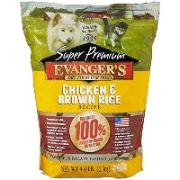 Evangers Super Premium Chicken Brown Rice Recipe Dinner Meal for Dogs 4.4lbs