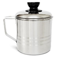 Nellam Grease Container with Separator, Includes Bonus Sponge and Towel - Durable Bacon Cooking Oil...