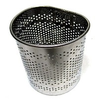 Stainless Steel Perforated Half-Circle Cutlery Holder Hook Type Sink Basket Silver by Cook's Mate