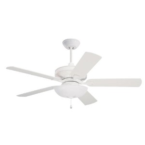 Emerson Ceiling Fans CF452SW Bella 52-Inch Indoor Ceiling Fan, Light Kit Adaptable, Satin White...