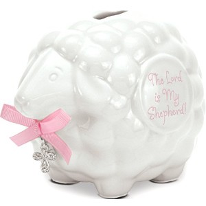 Brownlow Kitchen Lamb Bank with Scripture, Baby Girl by Brownlow Kitchen