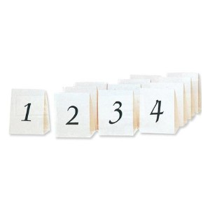 Beistle 57205 Numbered Table Cards, 4-1/4-Inch by 3-Inch by Beistle