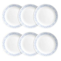 Corelle Livingware Lunch Plates (6 Pack), Crystal Frost