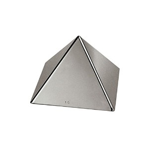Paderno World Cuisine 3.5 by 3.5 by 2.375 Inch Stainless Steel Pyramid Mold