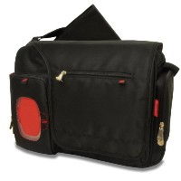 Fisher-Price Fastfinder Deluxe Messenger Diaper Bag, Black by Fisher-Price