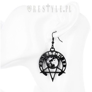 WITCH MOON EARRINGS 満月ペンタグラムゴシックピアス
