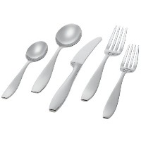 Ginkgo International Skandia 5-Piece Stainless Steel Flatware Place Setting, Service for 1 by...