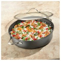 Contemporary Nonstick 7-qt。Sauteuse Pan with Lid