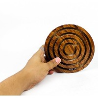 Ball In A Maze Puzzle Board Game | Premium Hand Crafted Wooden Labyrinth Kid's Table Game | Wooden...