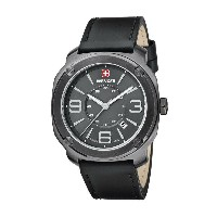 ウェンガー Wenger メンズ アクセサリー 腕時計【Escort Swiss Quartz Analog Watch - 43mm, Leather Strap】Gunmetal/Black