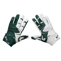 カッターズ メンズ アメフト グローブ【Cutters Rev Pro 2.0 Yin Yang Receiver Gloves】Dark Green/White