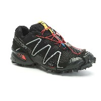 サロモン メンズ ランニング シューズ・靴【Salomon Speedcross 3 Shoe】Black / Black / Silver Metallic-X