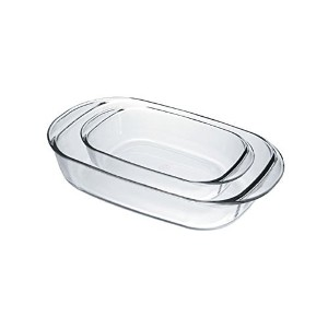 Duralex Ovenchef Glass Rectangular Bakers, Set of 2 [並行輸入品]