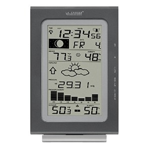 La Crosse Technology WS-9037U-IT Atomic Forecast Station with Pressure History, Temperature,...