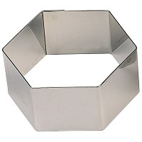 Paderno World Cuisine Pack of 6 Hexagon Stainless Steel Pastry Rings, 2-3/8-Inch [並行輸入品]