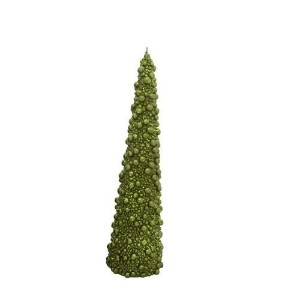Fantastic Craft Berry Cone Tree Candle, 3-1/4 by 11-1/2-Inch, Green [並行輸入品]