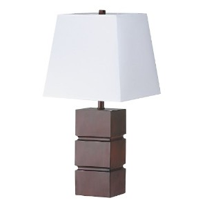 ORE International 2038 27-1/2-Inch Table Lamp, Walnut [並行輸入品]