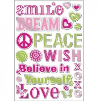 Lot 26 Studio Empowerment Word Mirrors Screen Printed Mirror Wall Decals, 29.5 by 14-Inch [並行輸入品]
