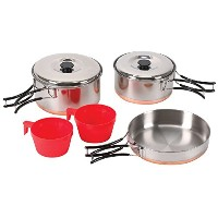 Stansport 362 2-Person Cook Set, Stainless Steel [並行輸入品]