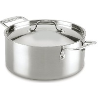 Lagostina Q5553364 Axia Stainless Steel Tri-ply Multi-Clad Dishwasher Safe Oven Safe Stockpot /...